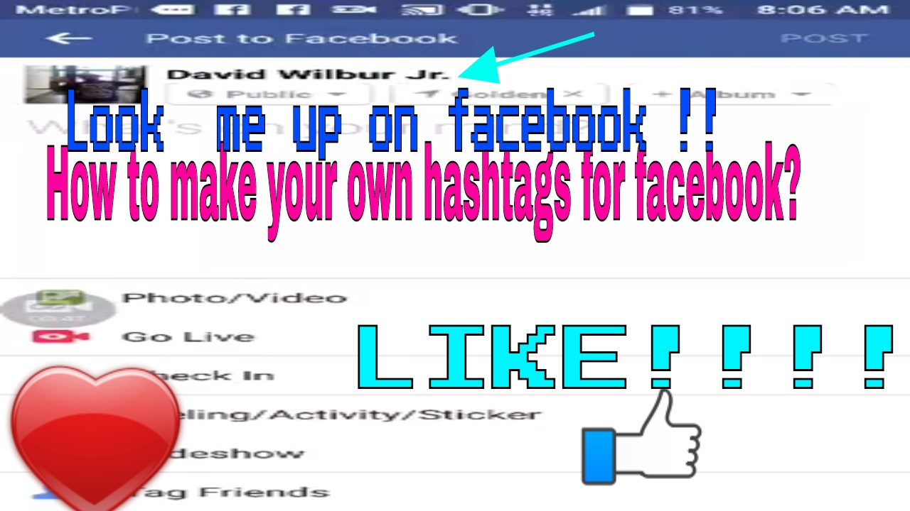 How to Create your own Hashtag on Facebook