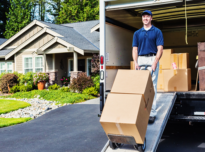 Delivery Man Unloading Truck