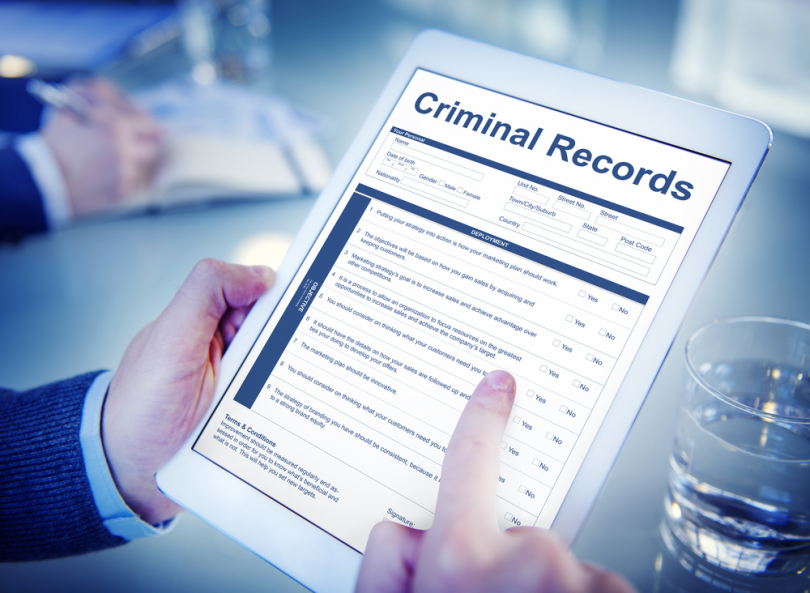 criminal background record check in Canada