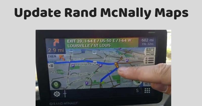 Update Rand McNally Maps