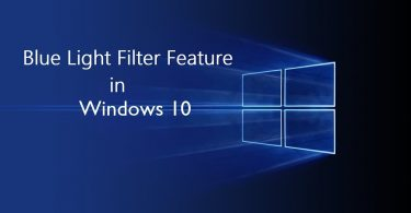 Blue light filter for Windows 10