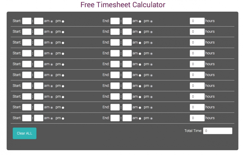 timesheet calculator