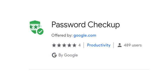 password checkup chrome extension