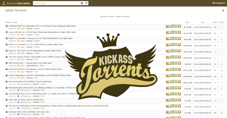 Kickass torrents site