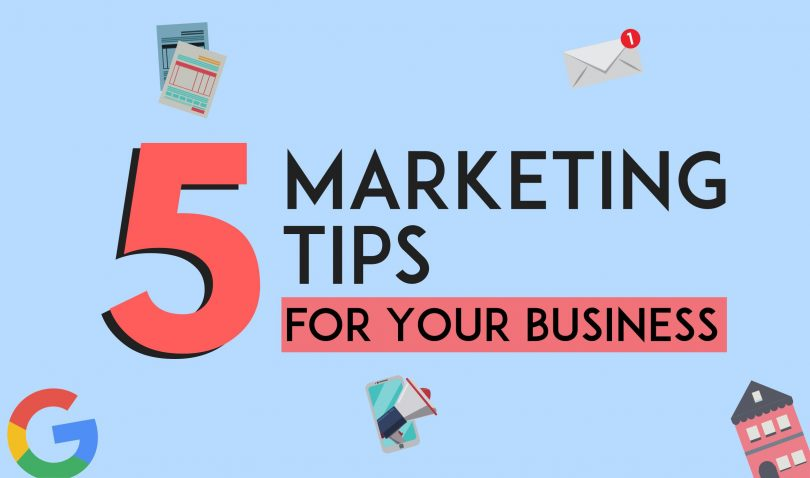 5 marketing tips for small businesses in 2019