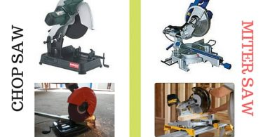 What is the difference between a chop saw and a miter saw