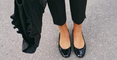 Brudens skor påverkar helheten i hennes utseende