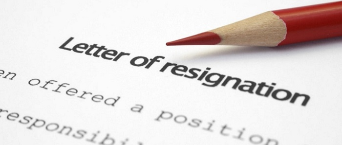 Resignation Letter sample 1