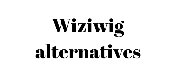 Wiziwig-alternatives