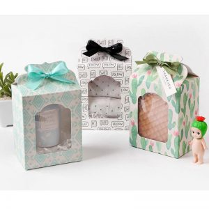 cute cactus Paper Box white Wedding favor Christmas decoration Birthday Cookie Candy Chocolate Macaron packaging cake 1