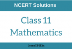 How are Maths NCERT Solutions helpful for Class 11 students?